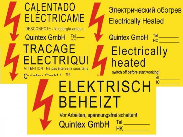 Warnschild elektrisch beheizt