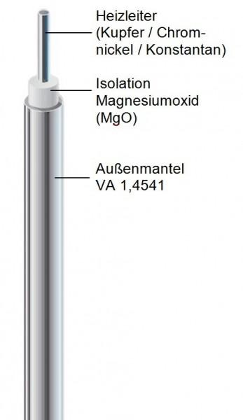 Mineralisoliertes Heizkabel ISM..VA Außenmantel