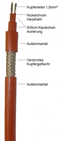 Heizband IPL bis 200°C, Litze 1,5mm²