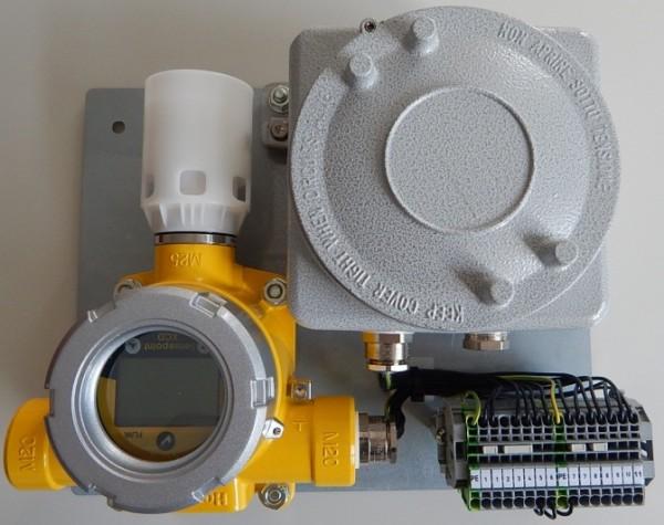 Quinguard Gasdetektor- Montageplatte montiert